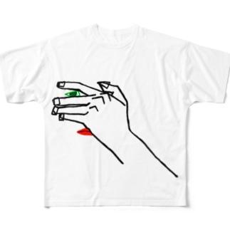 ド•ウミル Full graphic T-shirts