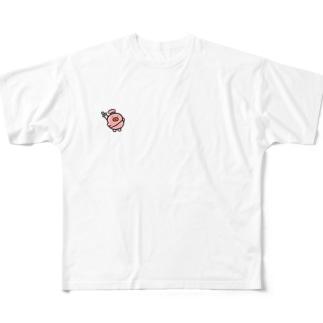 ぎょにくざむらい Full graphic T-shirts