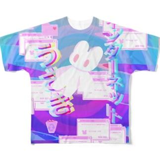 インターネットうさき Full graphic T-shirts