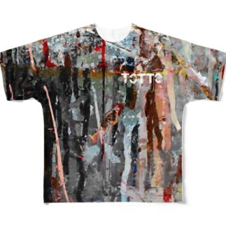 ペイントグラフィック(白文字) Full graphic T-shirts