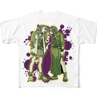 俺の百合漫画 Full graphic T-shirts