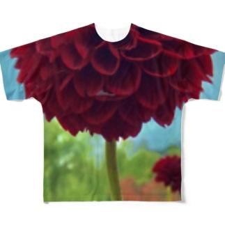 天竺牡丹 Full graphic T-shirts