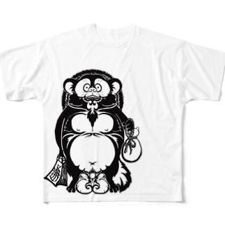 タヌキ Full graphic T-shirts