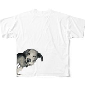 いぬ Full graphic T-shirts
