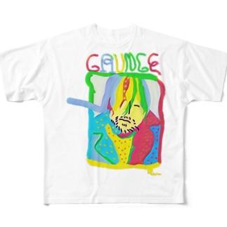 ぐにゃっとしたカリスマin原宿 Full graphic T-shirts
