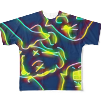 ぐにゃっとした休日 Full graphic T-shirts