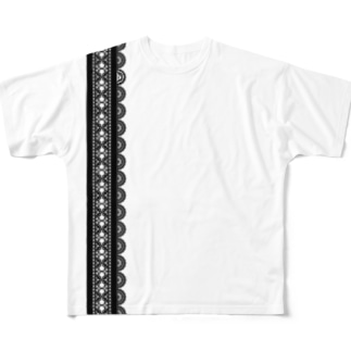 Lace-TH01WH Full graphic T-shirts