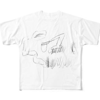 芝刈り機 Full graphic T-shirts