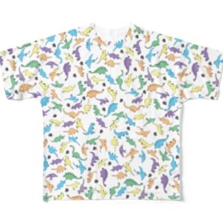 きょうりゅういっぱい Full graphic T-shirts