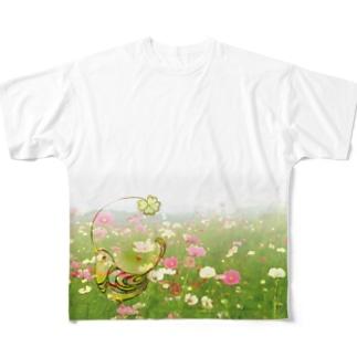 秋桜畑 Full graphic T-shirts