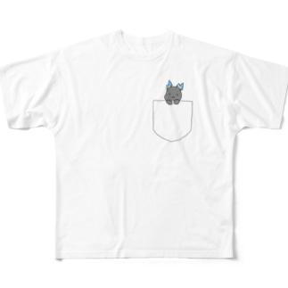 ポケットもばいりゅー Full graphic T-shirts