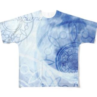 目覚める月 Full graphic T-shirts
