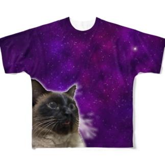 スペーシューキャット Full graphic T-shirts