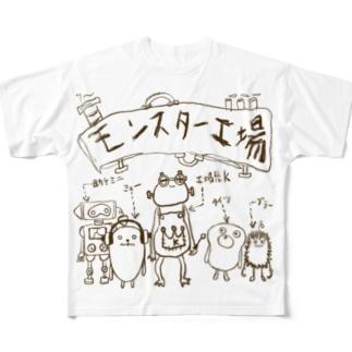 モンスター工場🏭 Full graphic T-shirts