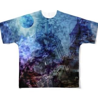 壊された未来と焦燥 タイポグラフィ無し Full graphic T-shirts