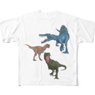 馬小屋の恐竜 Full graphic T-shirts