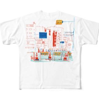 工事中 Full graphic T-shirts