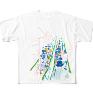 エスカレーター Full graphic T-shirts