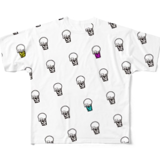 「10+」Beer Ghost くん Full graphic T-shirts
