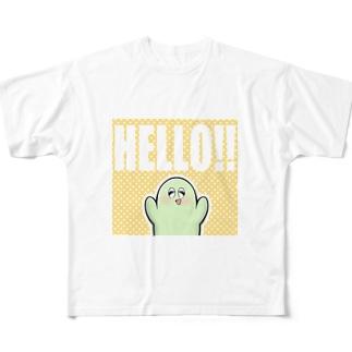 ハローも~さん Full graphic T-shirts