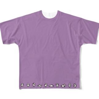 ちいさいぱんだいっぱい Full graphic T-shirts