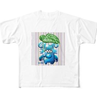 グリちゃんと里芋傘 Full graphic T-shirts