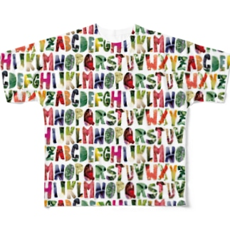 Alphabet of Vegetables Full graphic T-shirts
