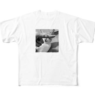 ぱっちりびーすけ Full graphic T-shirts