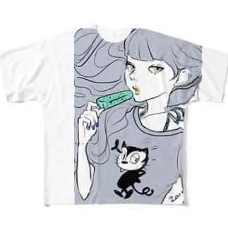 馬小屋のFull graphic T-shirts