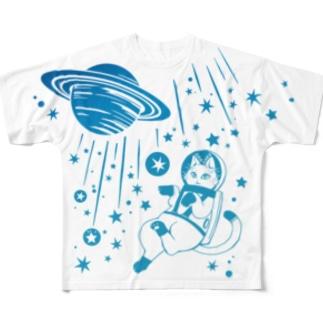 白猫の夢・宇宙の夢 Full graphic T-shirts