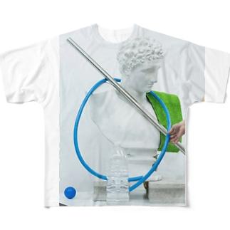 静物デッサンモチーフ組中 Full graphic T-shirts