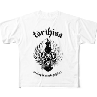 鳥ひさWarchicken Full graphic T-shirts