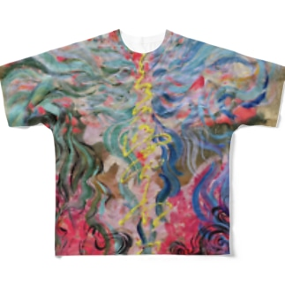 ど・スピリチュアル・ごりごりアセンションTーしゃつ Full graphic T-shirts