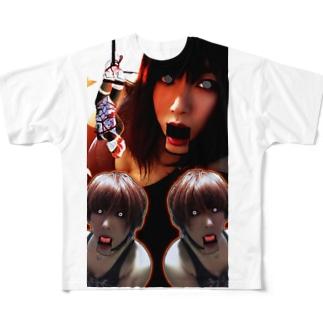 変態鬼才ゆり Full graphic T-shirts
