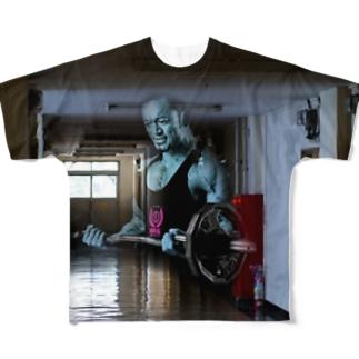 廊下にマッチョ霊!Tシャツ Full graphic T-shirts