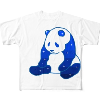 @miのおやすみパンダ Full graphic T-shirts