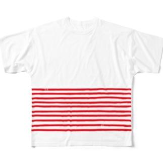 ハラマキボーダー Full graphic T-shirts