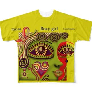 ボクシーなガール-G Full graphic T-shirts
