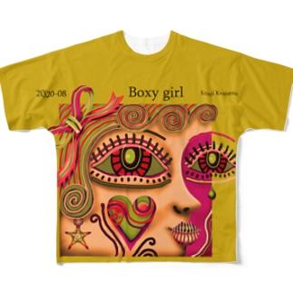 ボクシーなガール-O Full graphic T-shirts