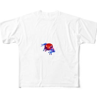 お腹からスパイダーフロッグ Full graphic T-shirts