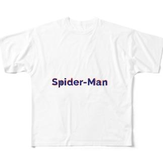 スパイダーマン! Full graphic T-shirts