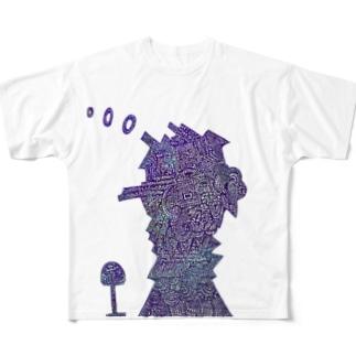 廃墟 Full graphic T-shirts