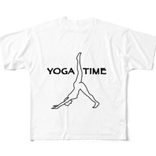 YOGA TIME Full graphic T-shirts