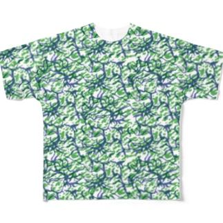 マーブルTシャツ Full Graphic T-Shirt