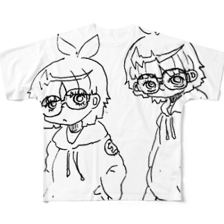双子 Full graphic T-shirts