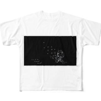 STAR black Full graphic T-shirts
