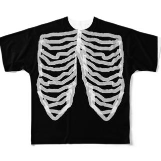 肋骨 Full graphic T-shirts