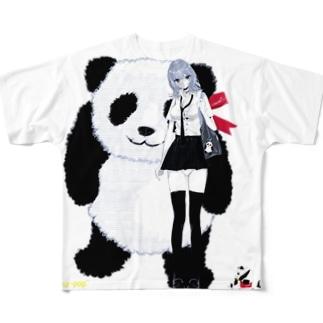 パンダが好きな女の子 ジャイアント Full graphic T-shirts