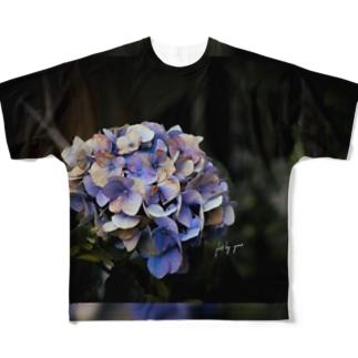 【EViL】紫陽花7.24/2019【花途夢】 Full graphic T-shirts