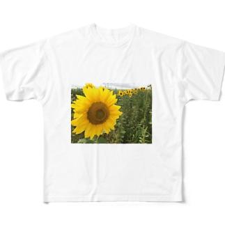 八月のひまわり Full graphic T-shirts